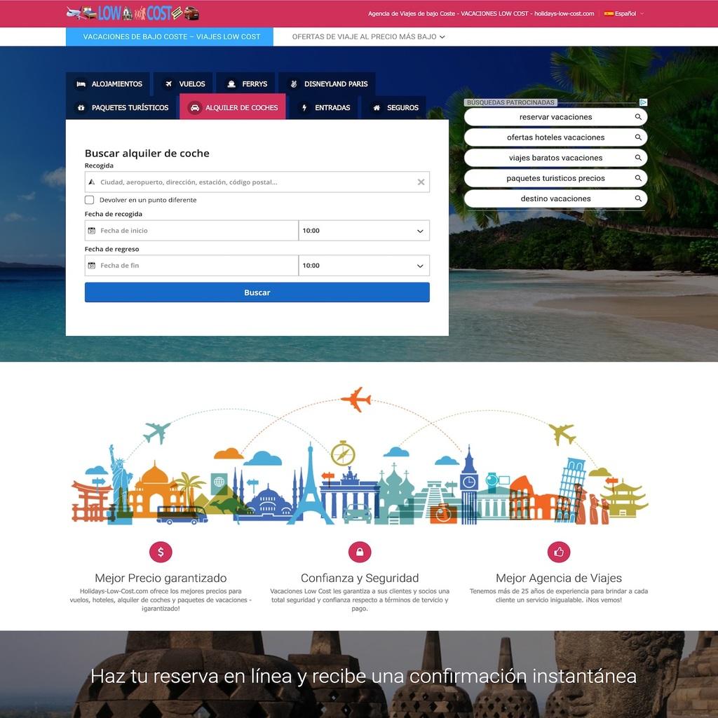 La mejor agencia de viajes de bajo coste: holidays-low-cost.com. Tu agencia de viajes online barata y fiable. Ofertas y Descuentos en línea.