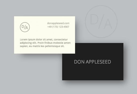 Diseño gráfico de una tarjeta de visita moderna