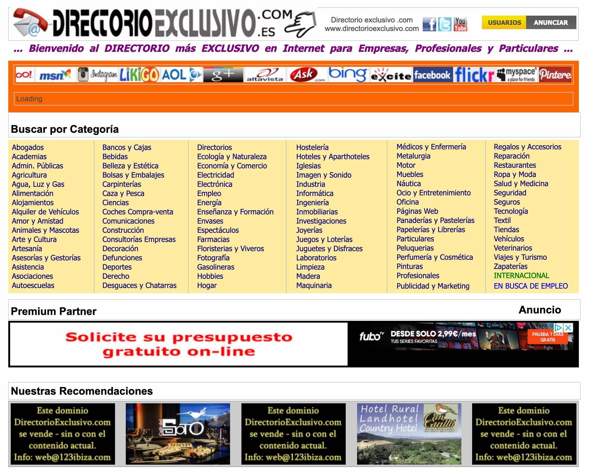 Directorio Web exclusivo