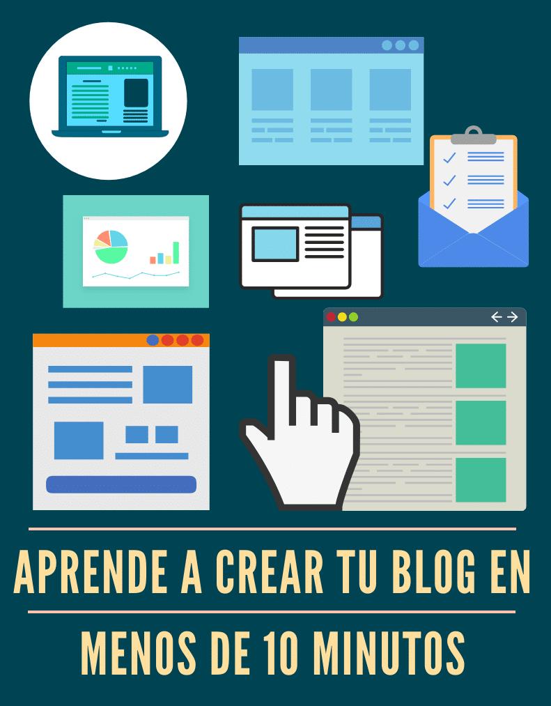Aprende a crear tu propio blog en menos de 10 minutos